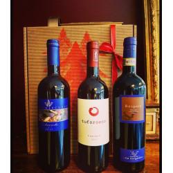 Coffret trio Apéro Rouge + bon cadeau